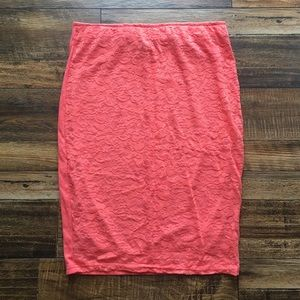 NWOT-Coral colored pencil skirt